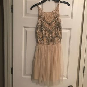 Lace & Beads - Beaded + Tulle Dress